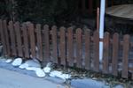 производство на ниски дървени оградни пана