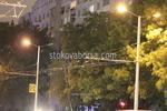 Метални стълбове за осветление на улица