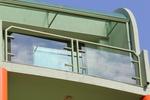 терасни парапети от метал и стъкло