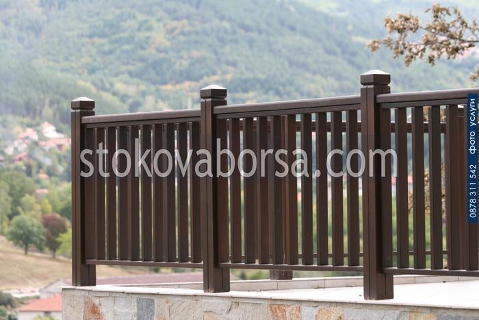 чамови дървени парапети за тераси