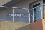 парапети за тераси от инокс и стъкло