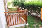 изработка на дървени парапети от дъб за тераси
