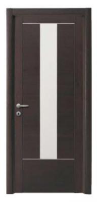Дървена интериорна врата цвят венге