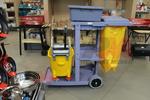 Широко приложими професионални камериерски колички за почистване и бельо